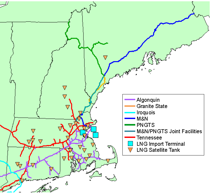 New England Natural Gas Infrastructure